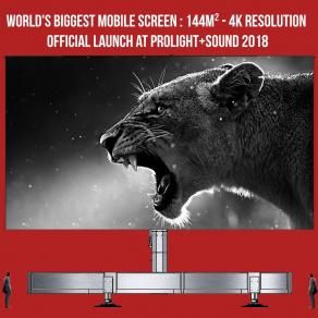 Ein Blickfang: Der größte mobile Bildschirm der Welt