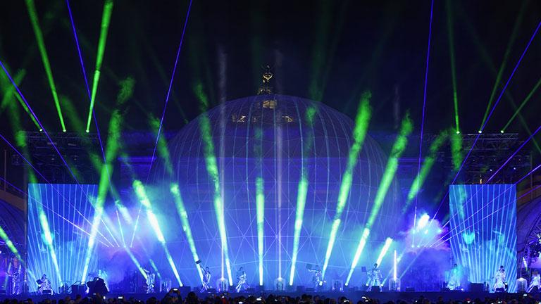 Lasershow Mauerfall Party Jubliäum