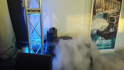 Ultratec Nebelmaschine erster Nebel