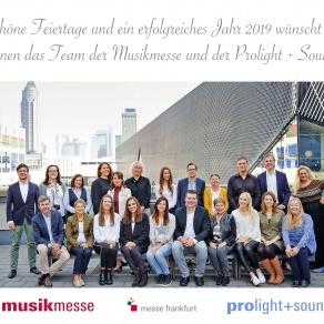 Prolight + Sound und Musikmesse wünschen frohe Weihnachten