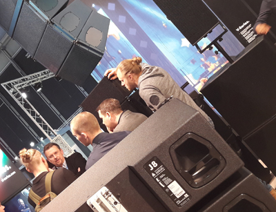db audio prolight + sound 2018 Messe stand