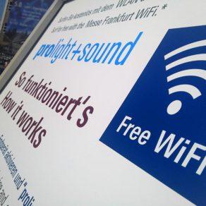 Free WiFi - auf der Messe immer online