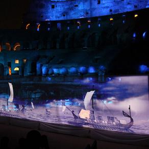 Immersive Multimedia-Show erweckte römisches Kolosseum zum Leben