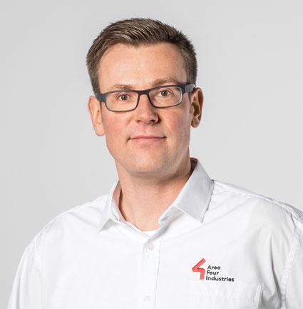 Norbert Tripp, Technical Director von Area Four Industries