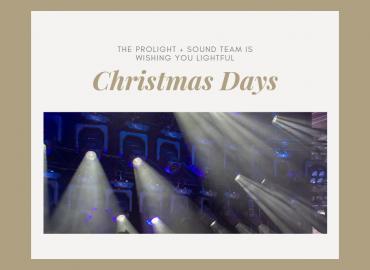 """Prolight + Sound wünscht """"Frohe Weihnachten"""""""